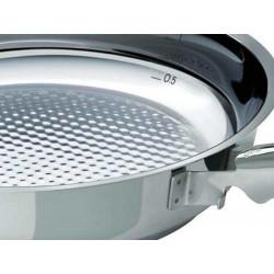 Pack 3 Sartenes de acero inoxidable Steelux Premium de Fissler + Regalo