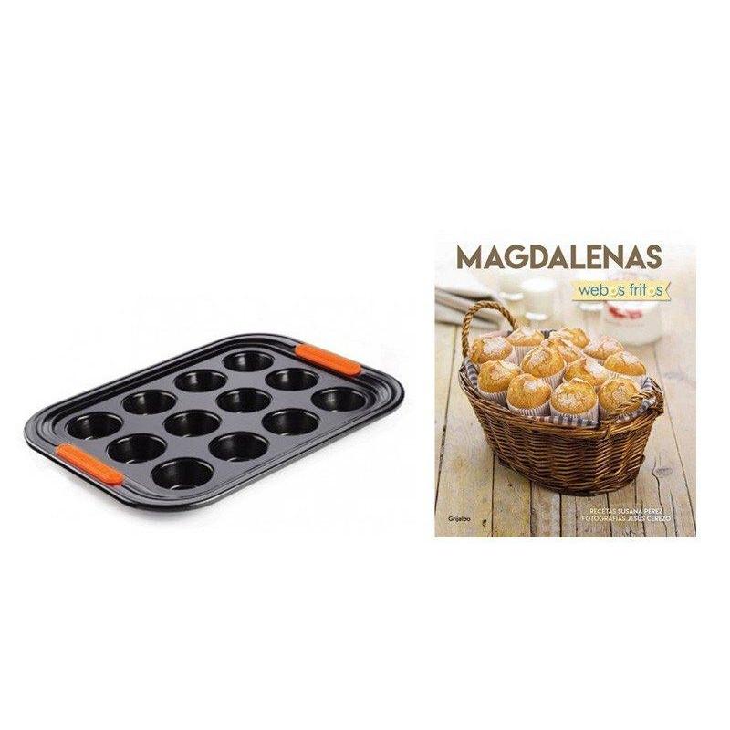 Promoción: Libro Magdalenas de webos fritos y Molde Le Creuset
