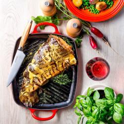 Parrilla Grill rectangular honda Le Creuset