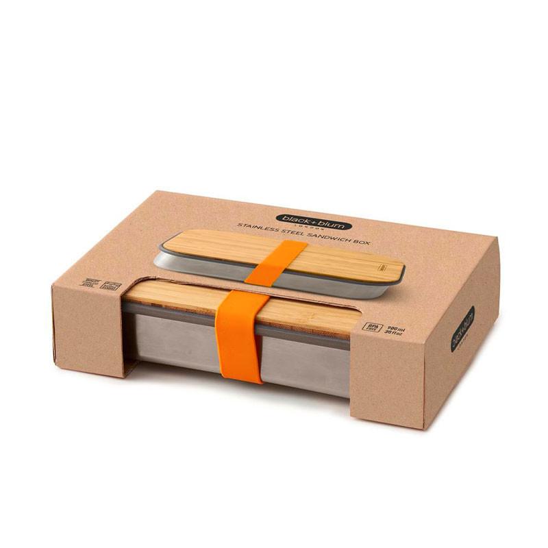 Sandwich box em aço inoxidável Black+Blum