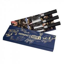 Conjunto presente 3 facas japonesas Super 5 Samura
