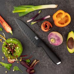 Cuchillo santoku alveolado del set de 3 cuchillos JUNO