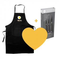 Cuchillos y delantal Canal Cocina ¡super regalo!