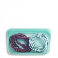 Saco Stasher em silicone cor Aqua.