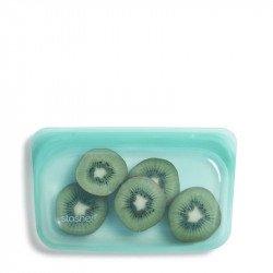 Saco Stasher em silicone cor Aqua - pequeno.