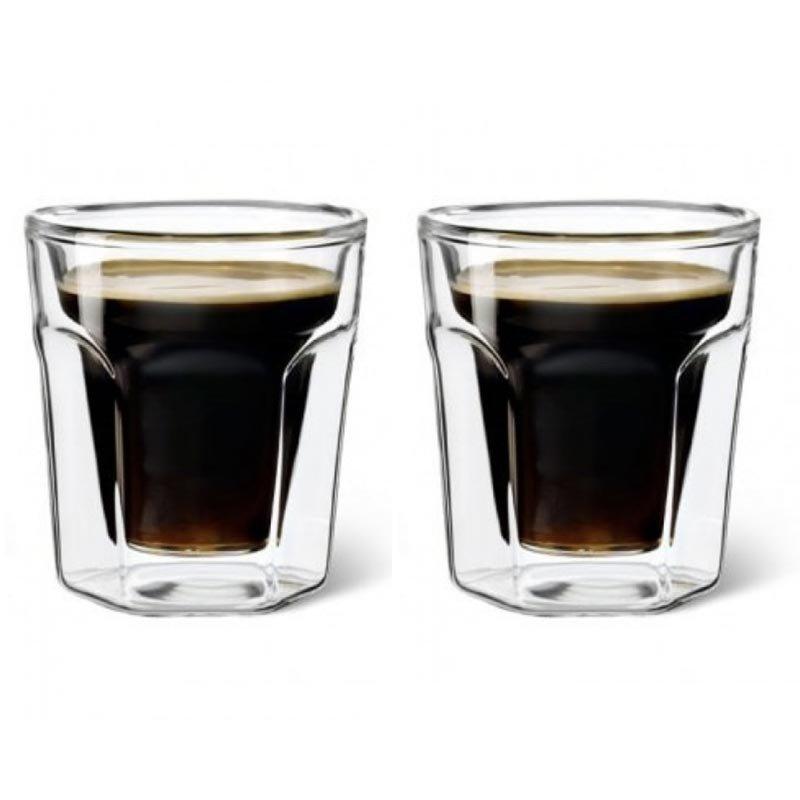 Juego de 2 vasos de vidrio para café espresso Leopold Vienna