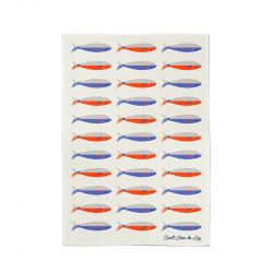 Pano de cozinha coleção Koadro Sardines de Jean Vier