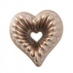 Molde Elegant Heart Bundt de Nordic Ware