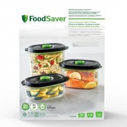 Conjunto 3 recipientes Foodsaver