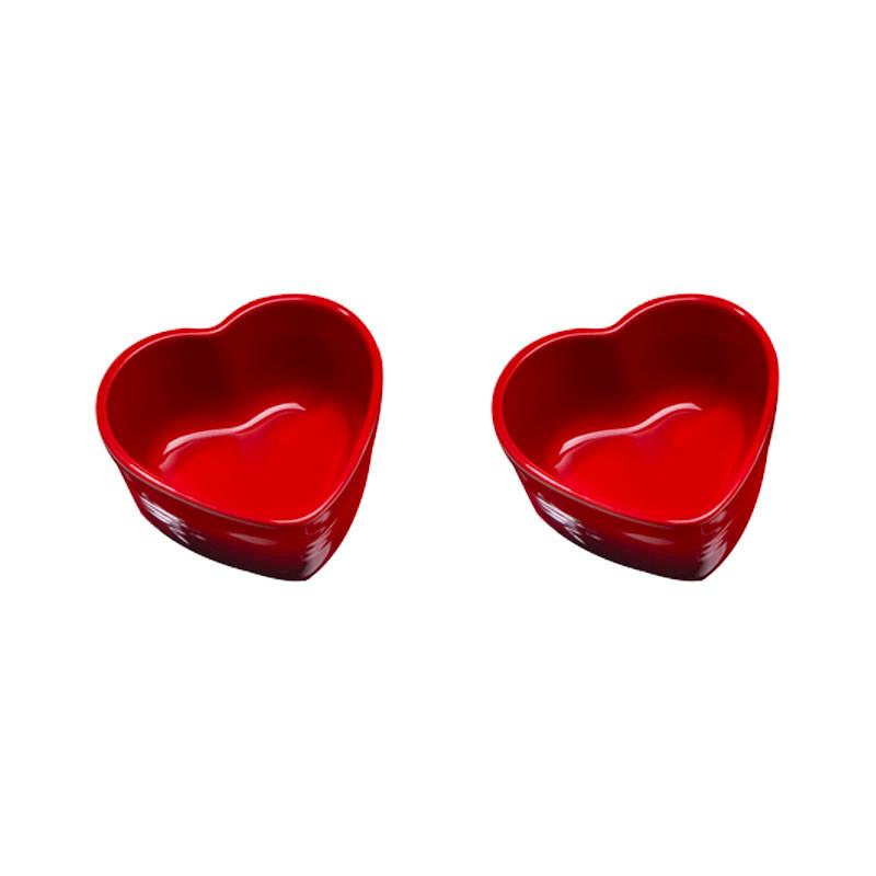 Set ramequines corazón Le Creuset