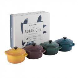 Set de 4 Mini Cocottes Redondas Botanique Le Creuset